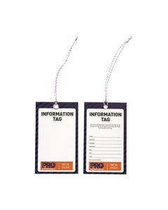 Pro Choice® Safety Tag -125mm X 75mm Information (Blank) STI12575