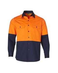 Winning Spirit Mens Long Sleeve Safety Shirt SW58
