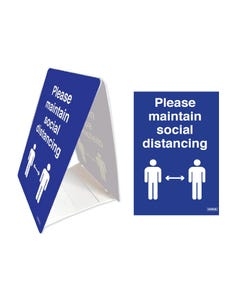 Tent Stands - 'Please Maintain Social Distance'