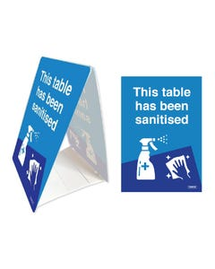 Tent Stands - 'This Table Has Been Sanitised'