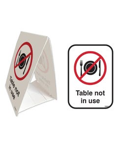 Tent Stands - 'Table Not In Use'