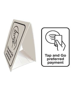 Tent Stands - 'Tap & Go Preferred Payment'