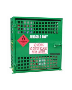 BRADY AEROSOL STORAGE CAGE 108 CAN CAPACITY GREEN