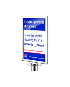 RETRACTA Q SIGN HOLDER A4 STAINLESS/CHROME
