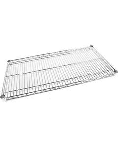 ACERACK WIRE SHELVING 4 SHELF 1800 X 1200MM CHROME