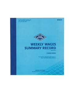 ZIONS 456SB WRITE IT ONCE PAYROLL BOOK 16 LINES