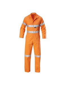 Hard Yakka Foundations Hi-Vis Cotton Drill Coverall with Tape Y00122