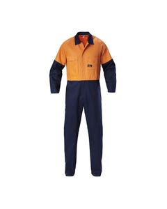 Hard Yakka Foundations Hi-Vis Two Tone Cotton Drill Coverall Y00270