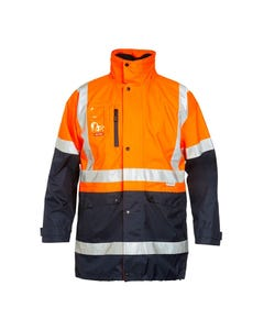 Hard Yakka Foundations Hi-Vis 4-in-1 Two Tone Jacket with Tape Y06057