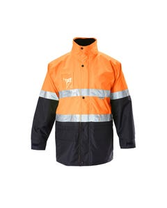 Hard Yakka Foundations Hi-Vis 6-in-1 Two Tone Jacket with Tape