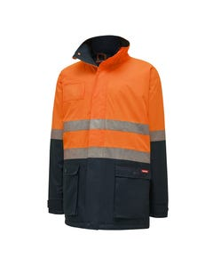 Hard Yakka Hi-Vis Two Tone Quilted Jacket with Tape