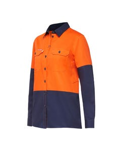 Hard Yakka Womens Koolgear Hi-Vis Ventilated Long Sleeve Shirt Y08225