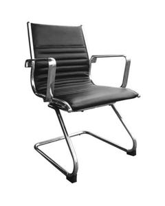 COGRA CANTILEVER CHAIR LEATHER PU BLACK