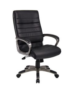 CAPRI EXECUTIVE CHAIR WITH ARMS PU BLACK