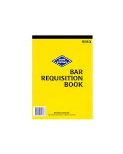 ZIONS BREQ BAR REQUISITION BOOK HOTEL