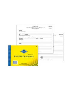 ZIONS REGISTER OF INJURIES BOOK WORKCOVER NSW
