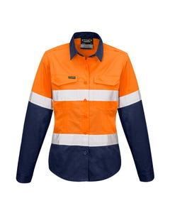 Syzmik Womens Rugged Cooling Taped Hi Vis Spliced Shirt ZW720